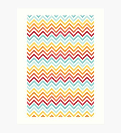 Rainbow Chevron #2 Art Print