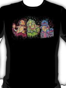 Pokemon Kanto Starters Spraypaint tshirts + more T-Shirt