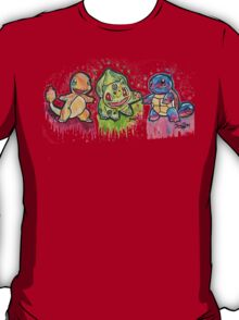 Pokemon Kanto Starters Spraypaint tshirts + more Jonny2may T-Shirt