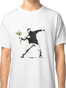 Banksy- Flower Thrower Classic T-Shirt