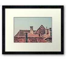 Rooftops at Sunset Framed Print