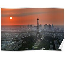The Eiffel Tower In Sunset Poster
