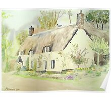 Picturesque Dunster Cottage Poster