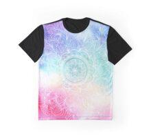 White rainbow mandala art Graphic T-Shirt