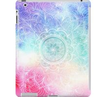 White rainbow mandala art iPad Case/Skin