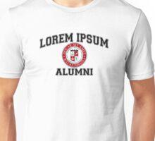 Lorem Ipsum University College Alumni Dummy Latin Unisex T-Shirt