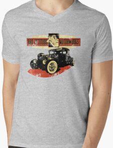 Bad Attitude Motorworks Mens V-Neck T-Shirt