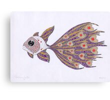 Fish of hearts  (original sold) Canvas Print