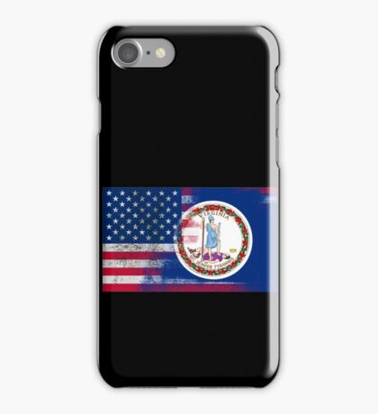 Virginia American Flag Fusion iPhone Case/Skin