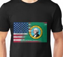 Washington American Flag Fusion Unisex T-Shirt
