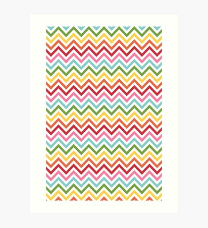 Rainbow Chevron #3 Art Print