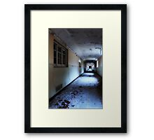 Corridor in decay Framed Print