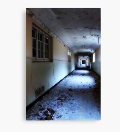 Corridor in decay Canvas Print