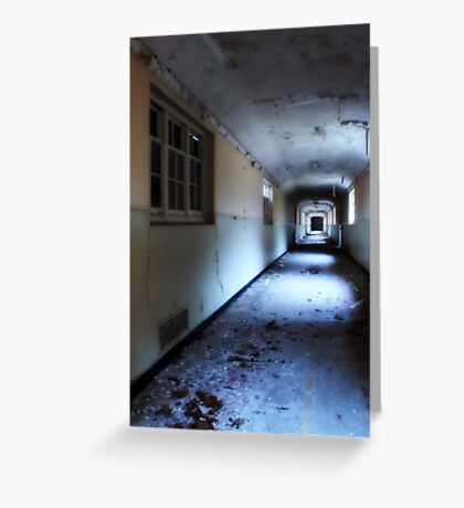 Corridor in decay Greeting Card
