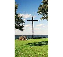 The Old Wooden Cross Photographic Print