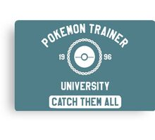 Pokemon university white Canvas Print