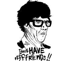 Hipster Sherlock Etch Photographic Print