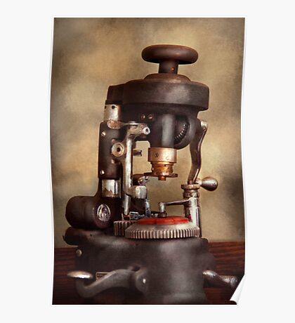 Optometry - Lens cutting machine Poster