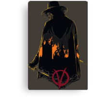 V for Vendetta 1st Version. Canvas Print