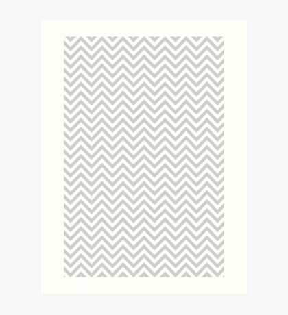 Grey Chevron Art Print