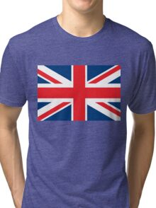Flag of the Flag of the Great Britain Tri-blend T-Shirt