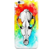 Watercolor skull iPhone Case/Skin