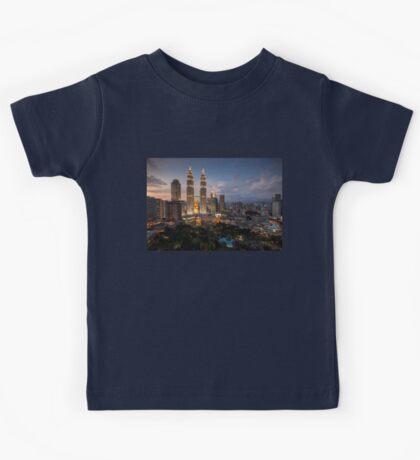 Petronas Towers By Night Kids Tee