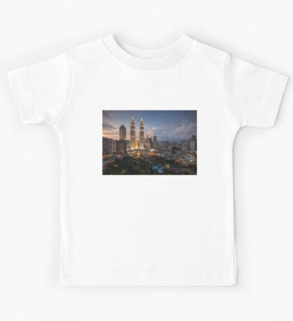 Petronas Towers By Night Kids Tee