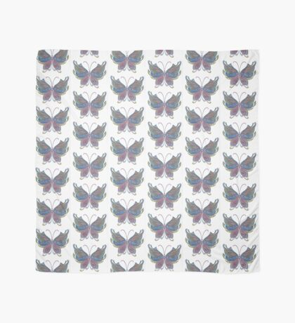 Hand-Colored Butterfly Abstract Design Scarf