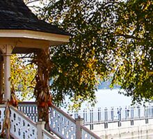 Gazebo at Skaneateles Lake Sticker
