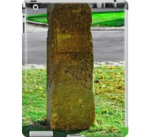 Stone for Shutting off Two Horses, Broadway iPad Case/Skin