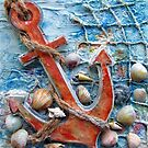 Anchor-Shell Art by Robin Monroe