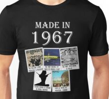 Made in 1967, main historical events Unisex T-Shirt