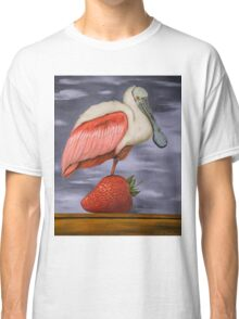 Spoonbill On A Strawberry Classic T-Shirt