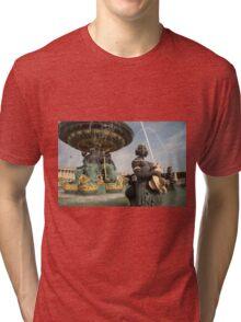 Paris Fountains  Tri-blend T-Shirt