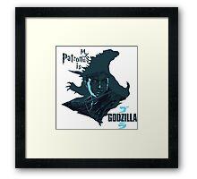 My Patronus is Godzilla Framed Print