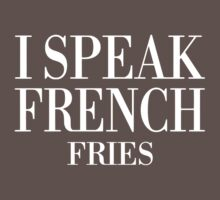 I Speak French Fries One Piece - Short Sleeve