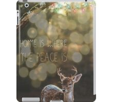 Home Is Where The Peace Is  iPad Case/Skin
