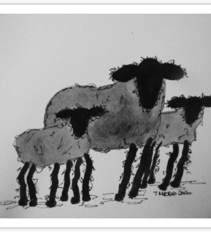 Inky Sheep 5 Sticker