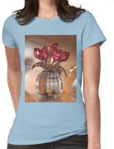 Crystal Flowers Womens Fitted T-Shirt