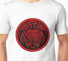 Mimbres Bird in Red Unisex T-Shirt