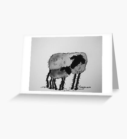 Inky Sheep 6 Greeting Card