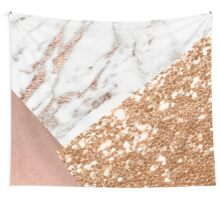 Layered rose gold Wall Tapestry