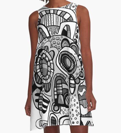 Bone Pharaoh  A-Line Dress