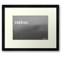 Explore poster Framed Print