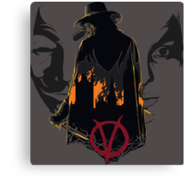 V for Vendetta 2nd Version. Canvas Print
