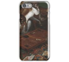 Backgammon-playing baboons, 17th century iPhone Case/Skin