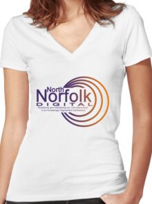 North Norfolk Digital Women's Fitted V-Neck T-Shirt