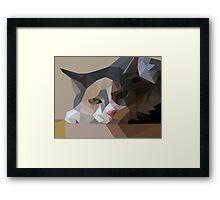 polygon art cat Framed Print
