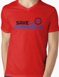 Save The Manuals (3) Mens V-Neck T-Shirt